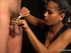 Hot Ebony Pegging Femdom Strapon