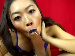 Asian gf gets mouth fucked by BBC