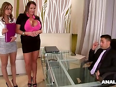 Anal Inspection At The Hardcore Office With Laura Orsolya & Abbie Cat