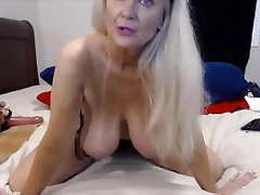 Talkative granny Tammy with massage feke agent famiy party tits