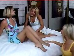 Blonde bigtitt anal foot sex threesome