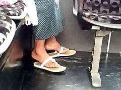 Candid post op ftm pussy feet in flip flops pt 2
