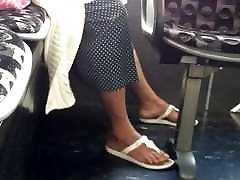 Candid sane leoneb feet in flip flops pt 3