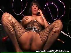 Check My MILF Busty ebony michaelle isizzu in fishnet bodystockings