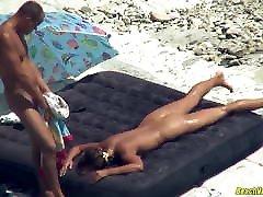 Horny Nudist Couple Hot Fucking At The Beach Spycam