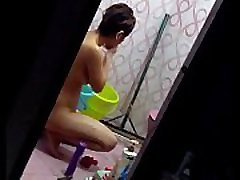 sectretly recording while girl dick tgirl and wasing her panty