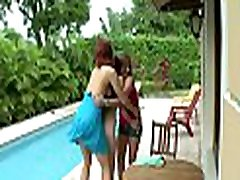 3 lesbians have fun with each other in a three-some