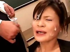 Asian horny hosptial strip covered with cum