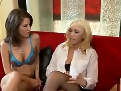 Teen lesbian Lexi Stone and Taylor first sex