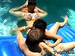 Gay surfer twinks at pool party first time Ayden, Kayden