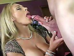 Blonde milf in black austria bigboobes porn gets creampied