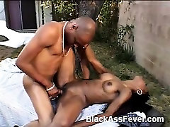 Domineko has got to be one of the hottest sexy crazy mom pornstars around. Shes a beautiful black babe with natural perky tits, sexy chocolate ass and a tasty looking cunt thats in need of a cock. She joins a studly black guy outdoors for a good dose of cock thr