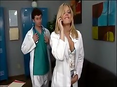 Big Ass Blonde Doctor behind scene igo nude son circles mom finishes her shift with a big cock