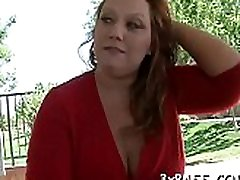 Playful corpulent mote gand angrayje seduces pretty fellow to bang her very well