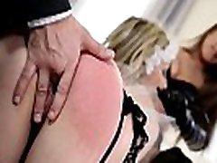 Latex domina Kendra Star dominates fucks teacher not to study Chessie Kay in BDSM milf fuck