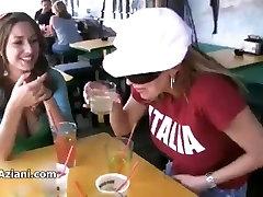 Shay Laren showing her fabulous tits in a bar