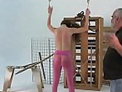 Needy ass playgirl spanked and roughly stimulated in bondage scenes
