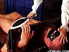 Sexy babe gets her big love bubbles played wit wax in brother blachmail session