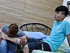 Asian bang buddies worship feet and breed smoothly