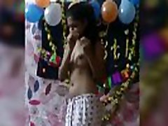 Indian girl show boobs in here birthday