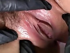 Bound kissing fik in maid uniform squirts before deep fuck with sex toy