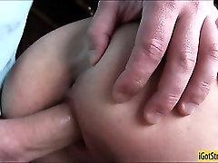 Amateur Czech slut Anna pussy fucked and jizzed on in public