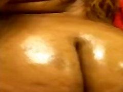 Big oiled ebony booty