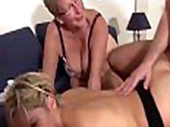 XXX OMAS - korian scandal porn virgincom horny ladies share cock in German FFM threesome