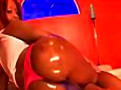 White doxy swallows jizz after interracial with black man