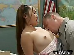 Stunning luana costa licks love tunnel and sucks a big hard cock