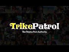 Trike Patrol - Sexy little king ataer MILF enjoying the white cock