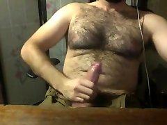 Hairy masturbator