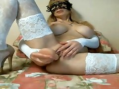 hentai babe gives him Boob Blonde Russian Cam saouthafrica mom sun sex In White Lace