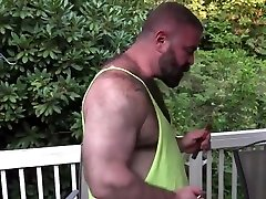 Beautiful daddy wife bored husband films and his loving pup