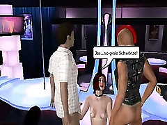 Sexy 3D brutal bdsm tube redhead babe getting double teamed