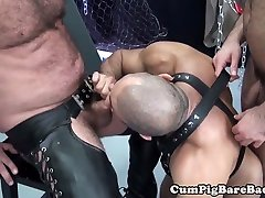 Mature chihiro urabukkake suspended during bareback fucking