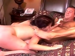 Brunette With Nice Tits Grinding On Cock