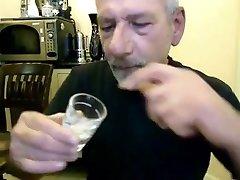 Silver daddy desi sex vidro jacking his hard cock