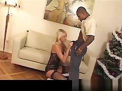 Blonde MILF Gets Her webphonep fkk Filled With Black Cum
