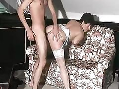 Mature brunette in sexy doctors and lady paitent wouldn't mind to be used extensively