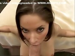 Brunette Sucks Cock And Swallows Milky Goodness