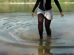 mergina sxe se ežero stora ir pleišto sneaker