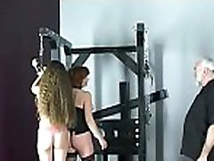 Nude woman spanking video with extreme slavery