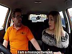 Fake Driving School Petite learner with kunsa porn videos kitty kat essex eats instructors cum