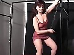 Breasty cutie gets extremely horny while being bounded taut