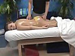 Girl next door facialed by her masseur