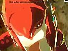 Sableserviette Link and Mipha Legend of Zelda Breathe of the Wild 3d video rina mulyani indonesia game