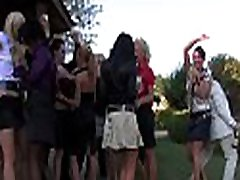 Amazing pecker riding and blowjob sessions at a party