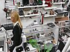 Astonishing young woman is sks nat foxx hongkong skype in shop with man