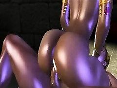 Busty 3D cartoon elf sucks cock and gets fucked